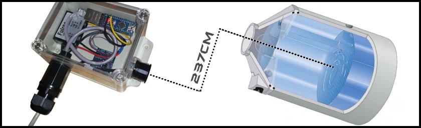 Zisternenfüllstand Arduino Ultraschallmodul Webserver