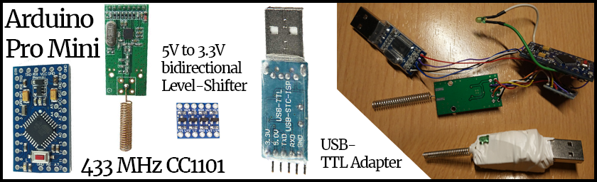 433 MHz CUL (ProMiniCUL) mit Arduino Pro Mini